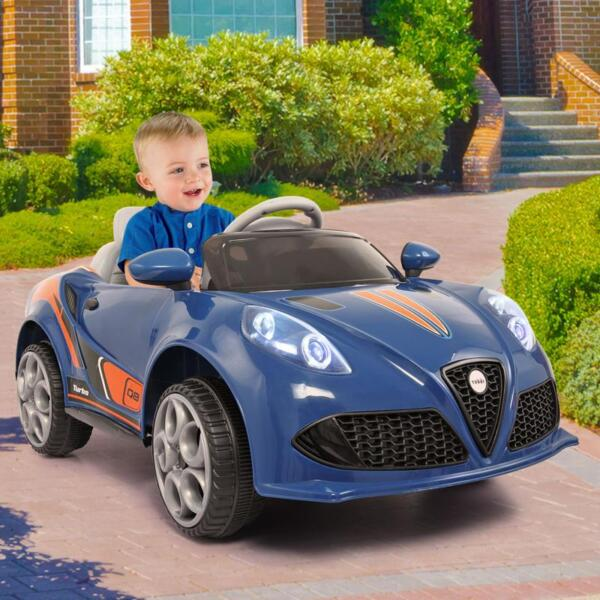 6V Powered Riding Toys with MP3, Blue 6v kids electric car with mp3 head light blue 17