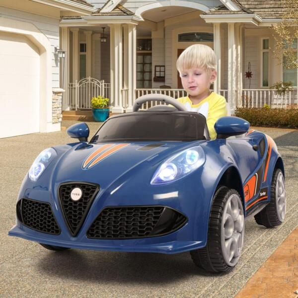 6V Powered Riding Toys with MP3, Blue 6v kids electric car with mp3 head light blue 18