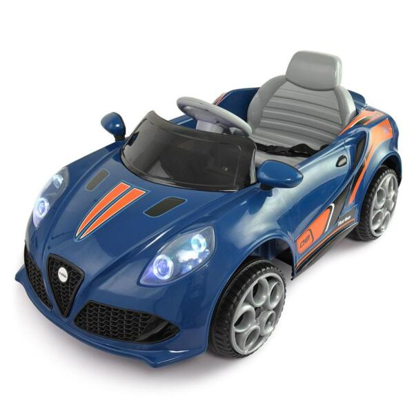 6V Powered Riding Toys with MP3, Blue 6v kids electric car with mp3 head light blue 2
