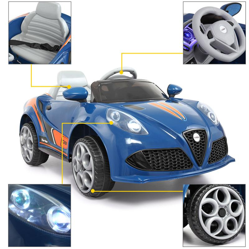 6V Powered Riding Toys with MP3, Blue 6v kids electric car with mp3 head light blue 22 1