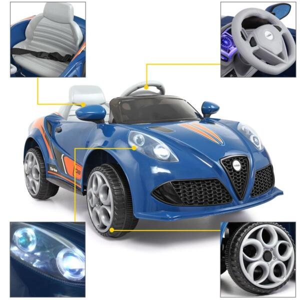 6V Powered Riding Toys with MP3, Blue 6v kids electric car with mp3 head light blue 22