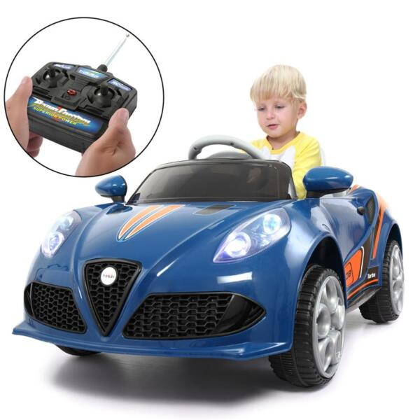 6V Powered Riding Toys with MP3, Blue 6v kids electric car with mp3 head light blue 23