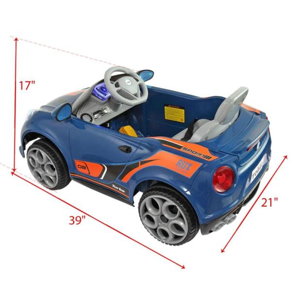6V Powered Riding Toys with MP3, Blue 6v kids electric car with mp3 head light blue 25 1