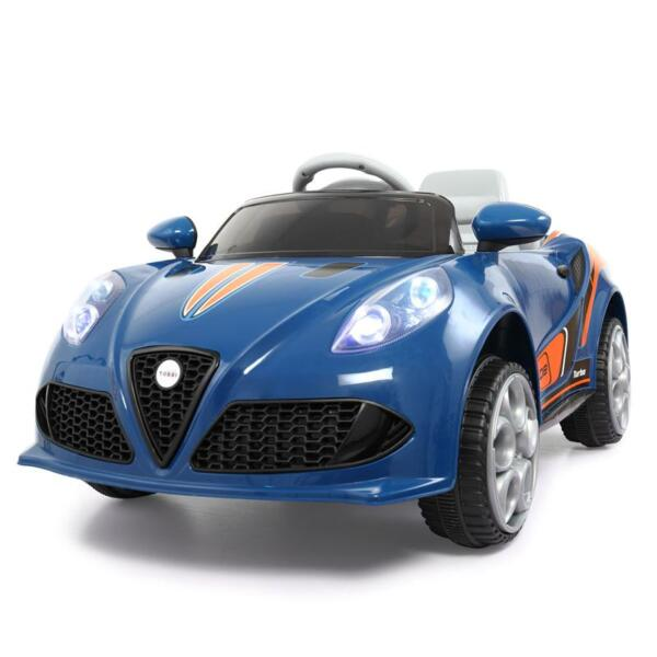 6V Powered Riding Toys with MP3, Blue 6v kids electric car with mp3 head light blue 3