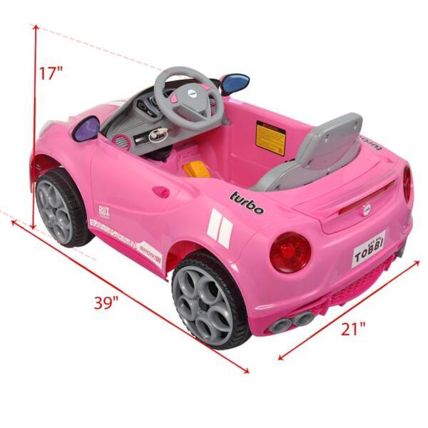 6V Kids Ride-On Car for Girl 3-8, Pink 6v kids electric car with mp3 head lights pink 18 2