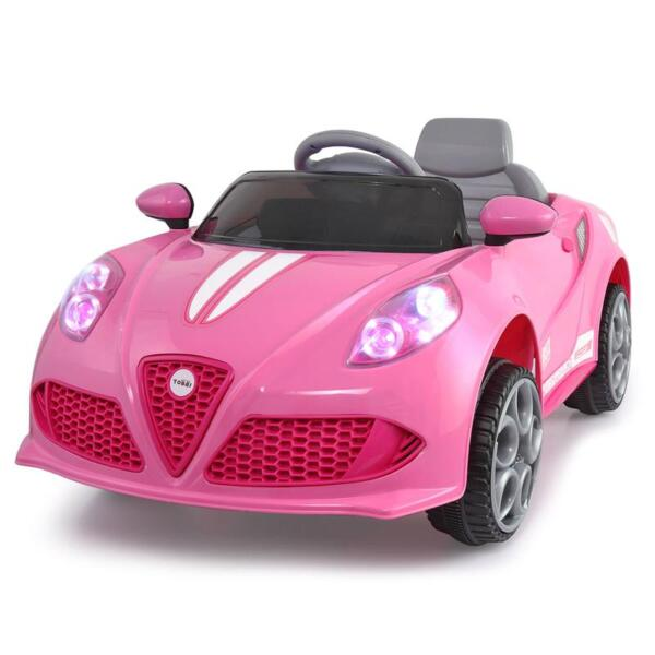 6V Kids Ride-On Car for Girl 3-8, Pink 6v kids electric car with mp3 head lights pink 2