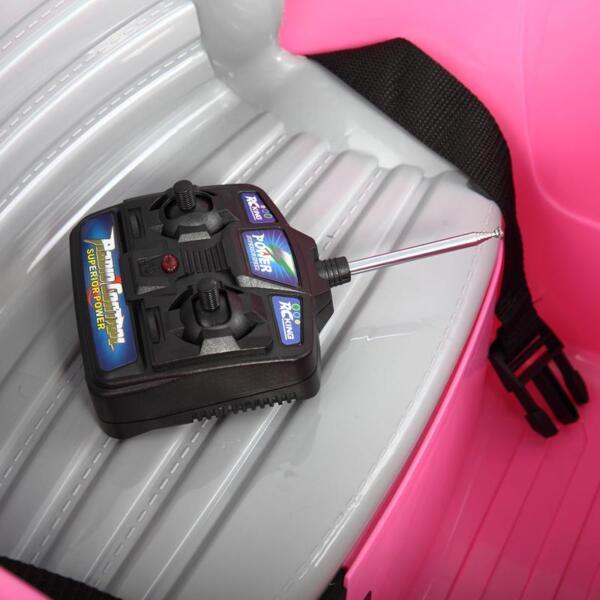 6V Kids Ride-On Car for Girl 3-8, Pink 6v kids electric car with mp3 head lights pink 34 1