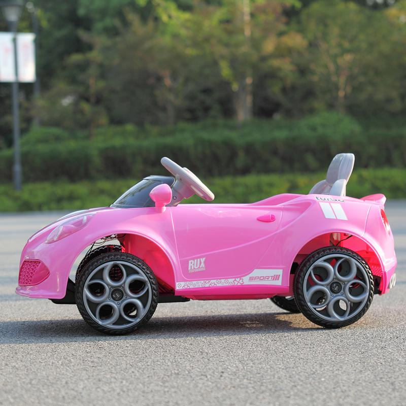 6V Kids Ride-On Car for Girl 3-8, Pink 6v kids electric car with mp3 head lights pink 37 2