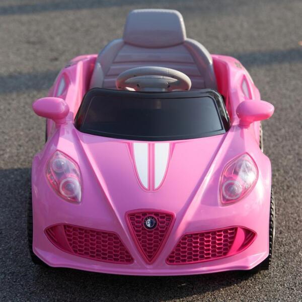 6V Kids Ride-On Car for Girl 3-8, Pink 6v kids electric car with mp3 head lights pink 39 1