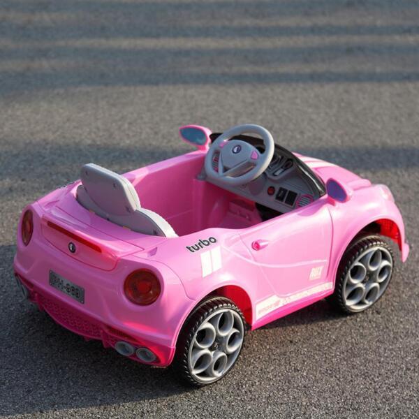 6V Kids Ride-On Car for Girl 3-8, Pink 6v kids electric car with mp3 head lights pink 41 1