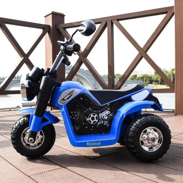 6V Kids Ride On Motorcycle 3 Wheel Bicycle, Blue 6v kids ride on motorcycle 3 wheel bicycle blue 1