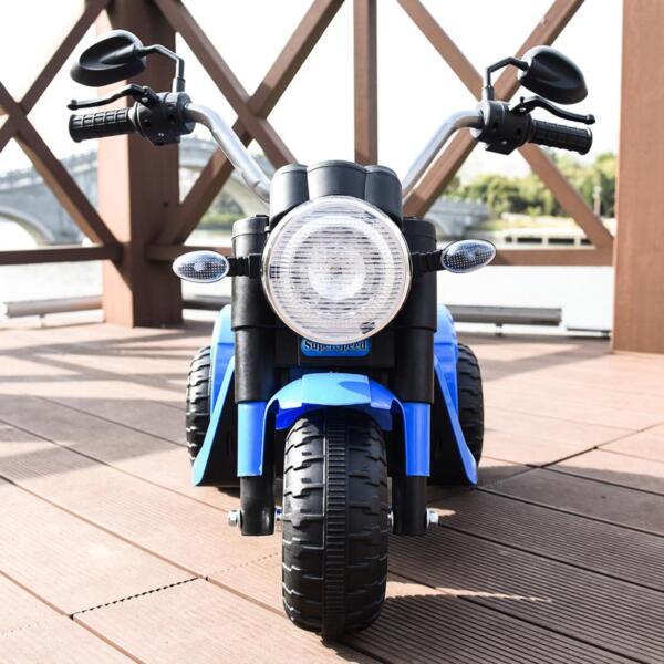 6V Kids Ride On Motorcycle 3 Wheel Bicycle, Blue 6v kids ride on motorcycle 3 wheel bicycle blue 12