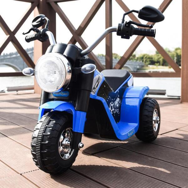 6V Kids Ride On Motorcycle 3 Wheel Bicycle, Blue 6v kids ride on motorcycle 3 wheel bicycle blue 13