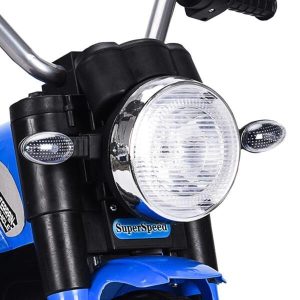6V Kids Ride On Motorcycle 3 Wheel Bicycle, Blue 6v kids ride on motorcycle 3 wheel bicycle blue 17