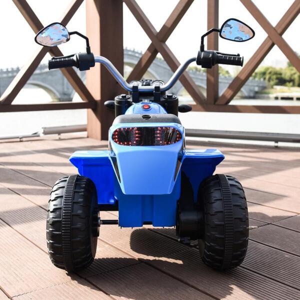 6V Kids Ride On Motorcycle 3 Wheel Bicycle, Blue 6v kids ride on motorcycle 3 wheel bicycle blue 3