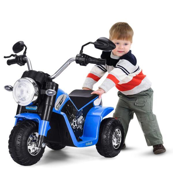 6V Kids Ride On Motorcycle 3 Wheel Bicycle, Blue 6v kids ride on motorcycle 3 wheel bicycle blue 6
