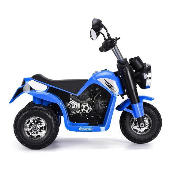 6V Kids Ride On Motorcycle 3 Wheel Bicycle, Blue 6v kids ride on motorcycle 3 wheel bicycle blue 9