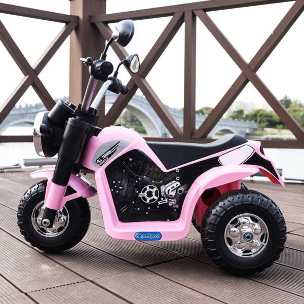6V 3 Wheel Motorcycle for Kids, Pink 6v kids ride on motorcycle 3 wheel bicycle pink 1