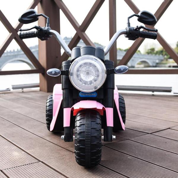 6V 3 Wheel Motorcycle for Kids, Pink 6v kids ride on motorcycle 3 wheel bicycle pink 12