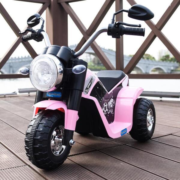 6V 3 Wheel Motorcycle for Kids, Pink 6v kids ride on motorcycle 3 wheel bicycle pink 13