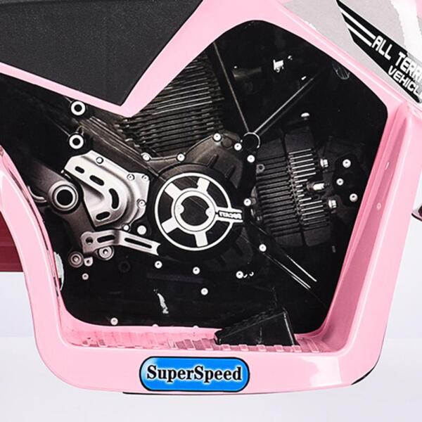 6V 3 Wheel Motorcycle for Kids, Pink 6v kids ride on motorcycle 3 wheel bicycle pink 15