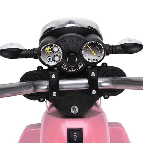 6V 3 Wheel Motorcycle for Kids, Pink 6v kids ride on motorcycle 3 wheel bicycle pink 19