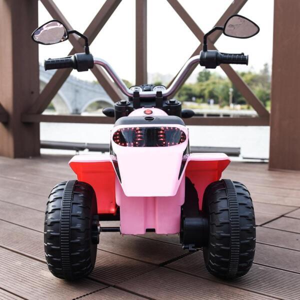 6V 3 Wheel Motorcycle for Kids, Pink 6v kids ride on motorcycle 3 wheel bicycle pink 3