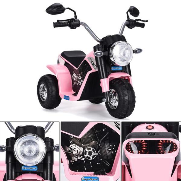 6V 3 Wheel Motorcycle for Kids, Pink 6v kids ride on motorcycle 3 wheel bicycle pink 4