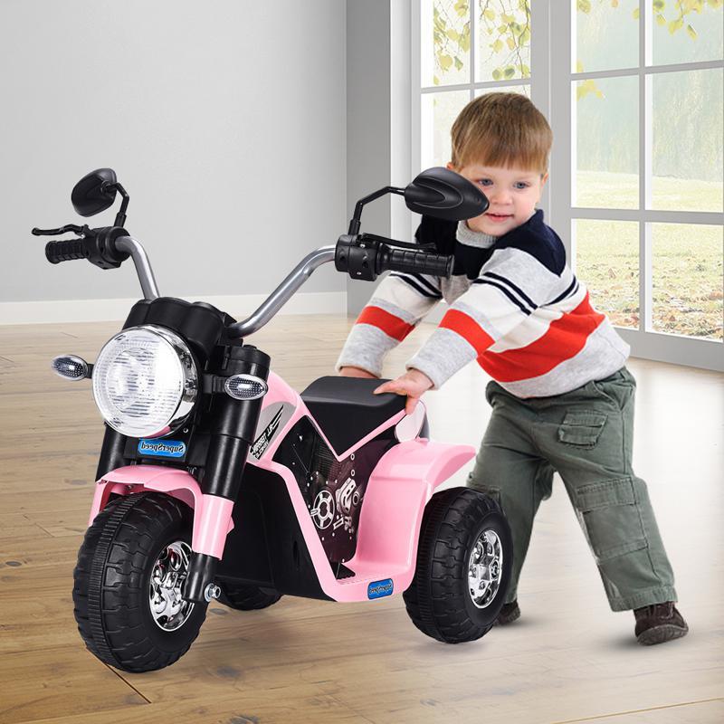 6V 3 Wheel Motorcycle for Kids, Pink 6v kids ride on motorcycle 3 wheel bicycle pink 7 1