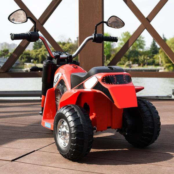 6V Kids Ride On Motorcycle 3 Wheel Bicycle, Red 6v kids ride on motorcycle 3 wheel bicycle red 11
