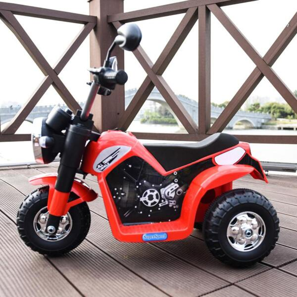 6V Kids Ride On Motorcycle 3 Wheel Bicycle, Red 6v kids ride on motorcycle 3 wheel bicycle red 12 1