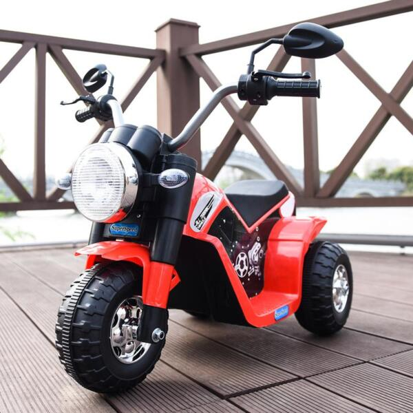 6V Kids Ride On Motorcycle 3 Wheel Bicycle, Red 6v kids ride on motorcycle 3 wheel bicycle red 17