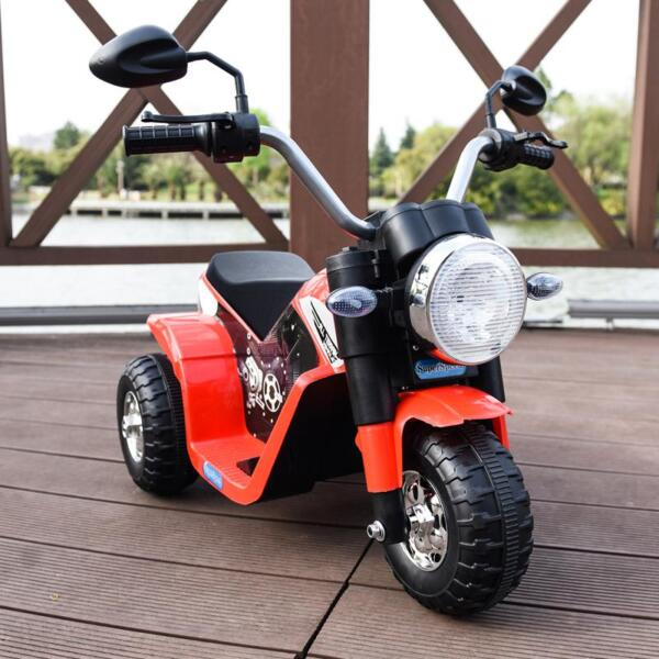 6V Kids Ride On Motorcycle 3 Wheel Bicycle, Red 6v kids ride on motorcycle 3 wheel bicycle red 2