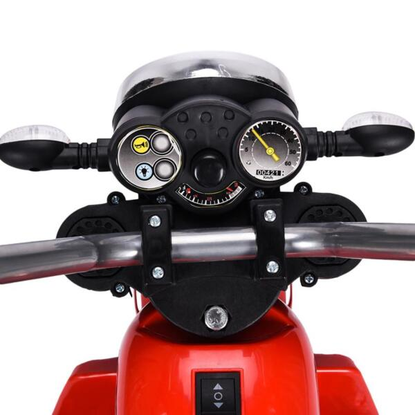 6V Kids Ride On Motorcycle 3 Wheel Bicycle, Red 6v kids ride on motorcycle 3 wheel bicycle red 24