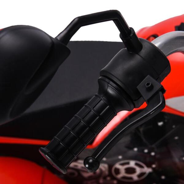 6V Kids Ride On Motorcycle 3 Wheel Bicycle, Red 6v kids ride on motorcycle 3 wheel bicycle red 26