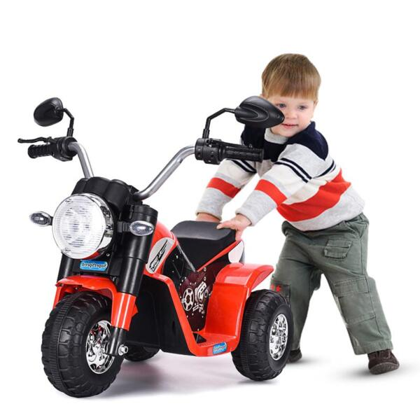 6V Kids Ride On Motorcycle 3 Wheel Bicycle, Red 6v kids ride on motorcycle 3 wheel bicycle red 5 副本