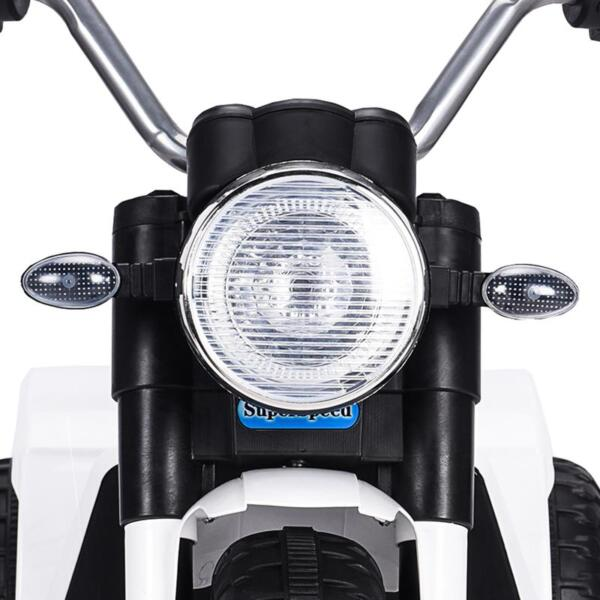 6V Kids Ride On Motorcycle 3 Wheel Bicycle, White 6v kids ride on motorcycle 3 wheel bicycle white 18 1