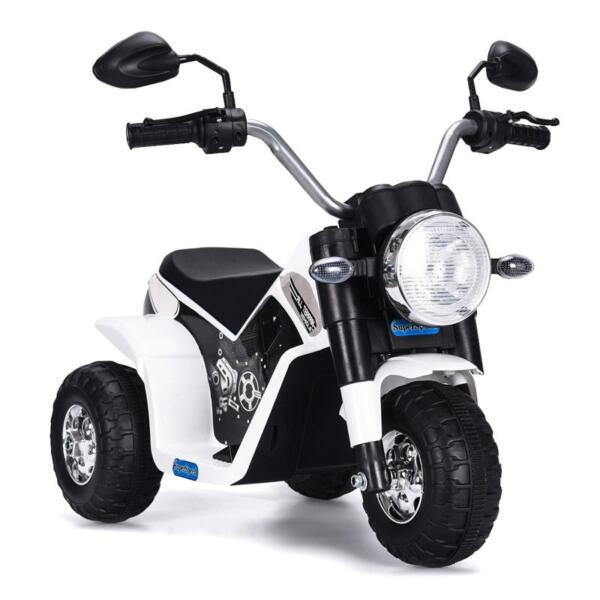 6V Kids Ride On Motorcycle 3 Wheel Bicycle, White 6v kids ride on motorcycle 3 wheel bicycle white 2
