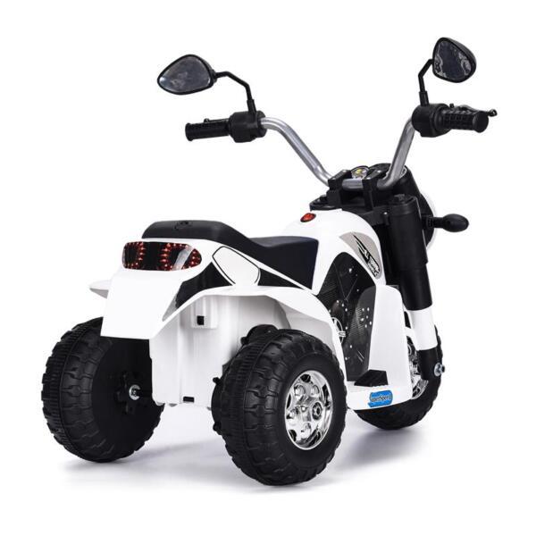 6V Kids Ride On Motorcycle 3 Wheel Bicycle, White 6v kids ride on motorcycle 3 wheel bicycle white 7