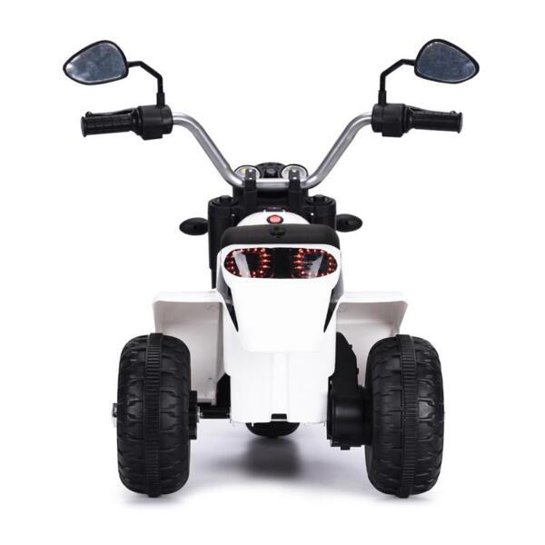 6V Kids Ride On Motorcycle 3 Wheel Bicycle, White 6v kids ride on motorcycle 3 wheel bicycle white 8