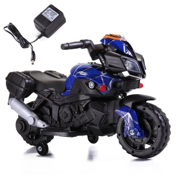 6V Kids Ride On Motorcycle, Blue 6v kids ride on motorcycle blue 17