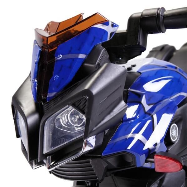 6V Kids Ride On Motorcycle, Blue 6v kids ride on motorcycle blue 2