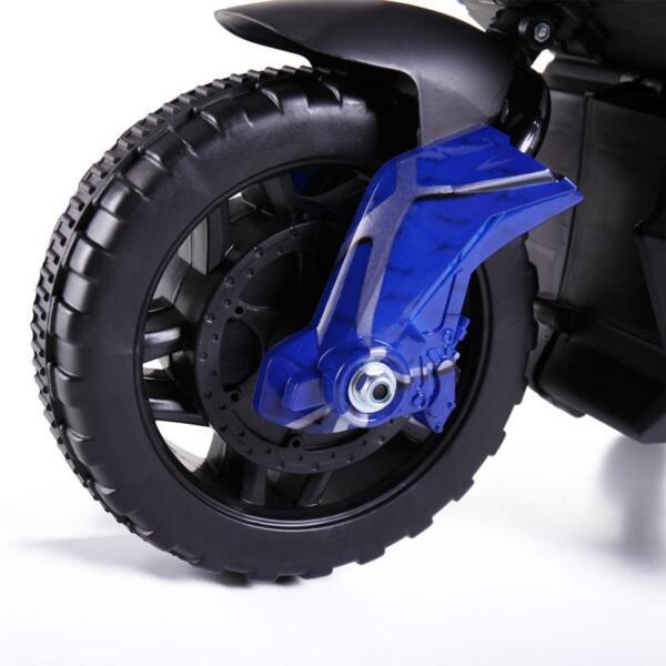 6V Kids Ride On Motorcycle, Blue 6v kids ride on motorcycle blue 3 1