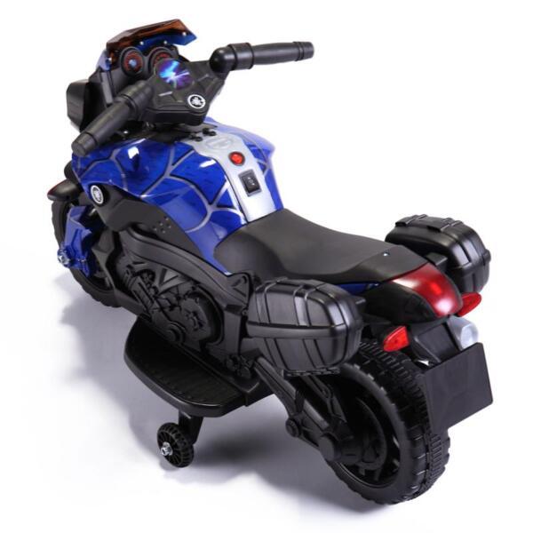 6V Kids Ride On Motorcycle, Blue 6v kids ride on motorcycle blue 5