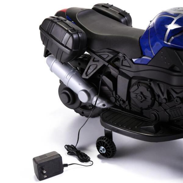 6V Kids Ride On Motorcycle, Blue 6v kids ride on motorcycle blue 8