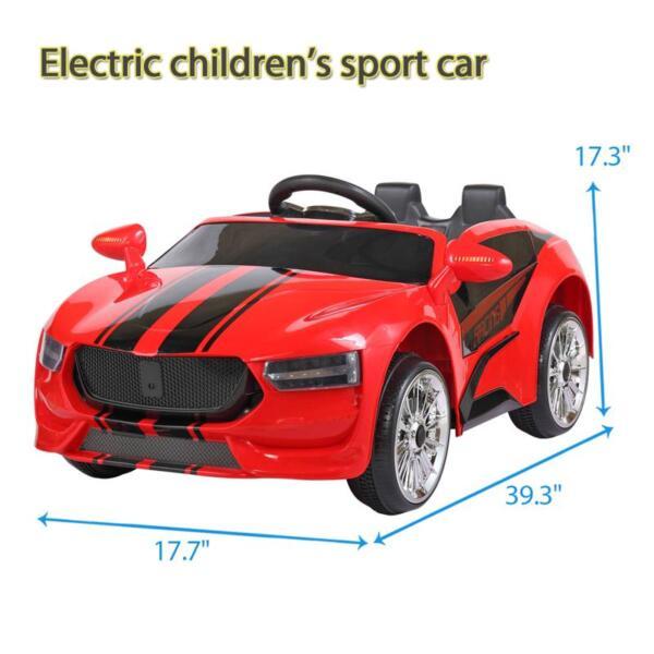 6V Kids Ride On Racing Car, Red 6v kids ride on racing car blue 10