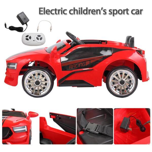 6V Kids Ride On Racing Car, Red 6v kids ride on racing car blue 15