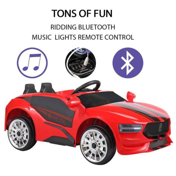 6V Kids Ride On Racing Car, Red 6v kids ride on racing car blue 19