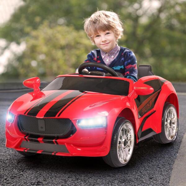 6V Kids Ride On Racing Car, Red 6v kids ride on racing car blue 21 1