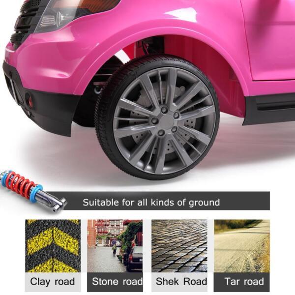 6V Remote Control Kids Ride On Car, Pink 6v remote control kids ride on car pink 19